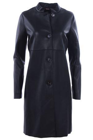 Leather coat STEWART | 5032278 | GKEDD46SAPUNIZF00029SAD46APUNINERO