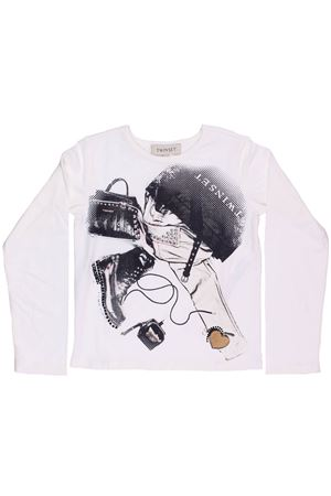 Shirt stampata con applicazioni TWIN SET | 8 | GA821U0526