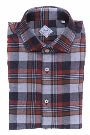 Camicia check heritage limited edition in flanella melange XACUS | 5032279 | 422ML31344001