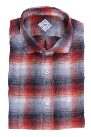Camicia check heritage limited edition in flanella di lino XACUS | 5032279 | 422ML31358001