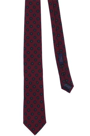 Wool and silk printed tie