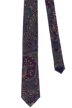 Silk tie with paisley print