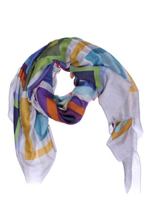 Modal scarf with geometrical print