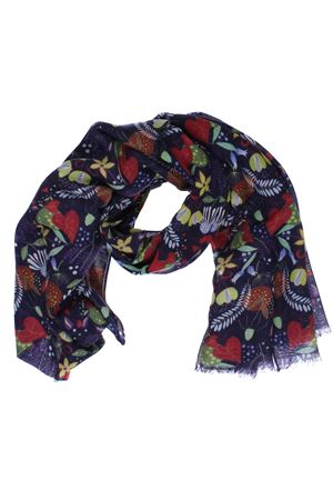 Wool scarf with floreal pattern ALTEA | 5032273 | 19600591