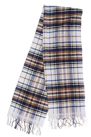 Scarf with checkered pattern