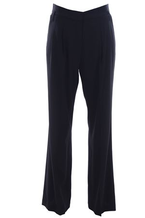 Wool pants with pleats