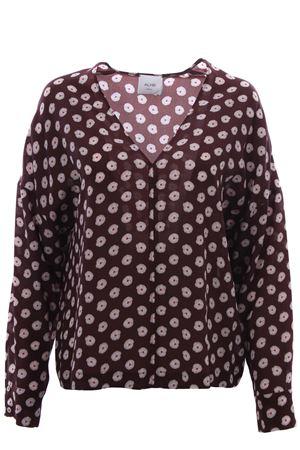 Silk v-neck blouse ALYSI | 5032279 | 159237A9057CAFFE