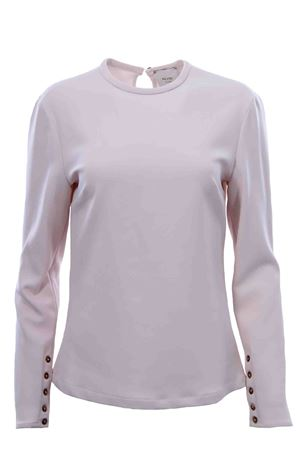 Crew neck t-shirt wit zip ALYSI | 8 | 159264A9247BURRO