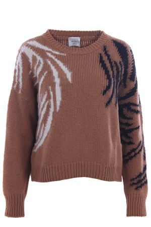 Marquetry crew neck