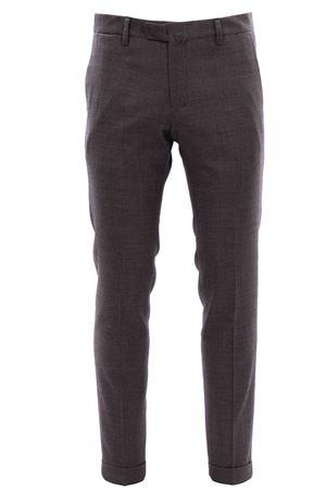 Pantalone microfantasia in lana BRIGLIA | 5032272 | BG03S4810946