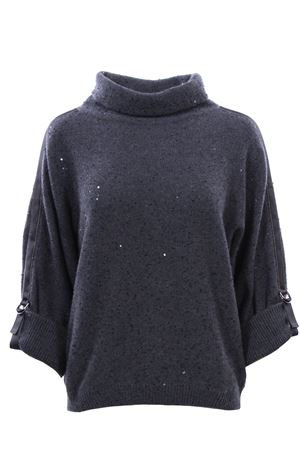 Collo alto con paillettes in cashemere e seta BRUNELLO CUCINELLI | -161048383 | M73542604CJ079