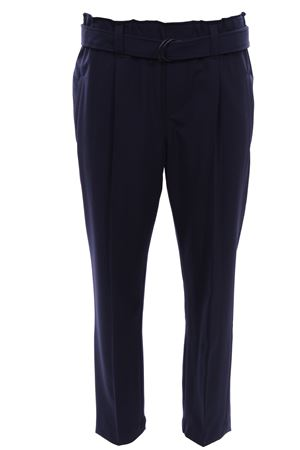 Wool pants with belt
