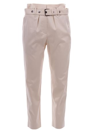 Cotton pants with pleats