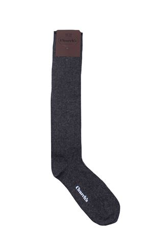 Ribbed cashmere and viscose socks CHURCH