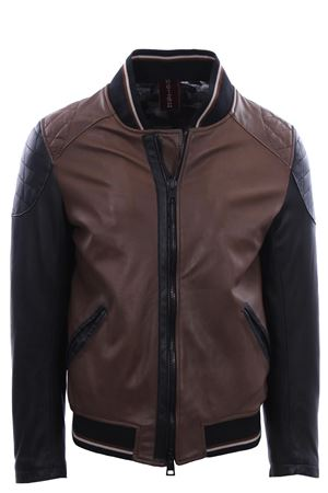 Two-tone leather bomber DELAN   5032285   21909100990/550