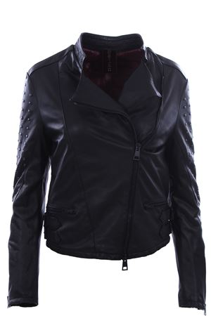 Leather jacket with studs DELAN | 5032285 | 41901100990
