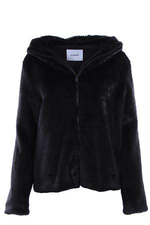 Eco fur jacket with hood DONDUP | 5032285 | J808PL0225DXXXPDD999