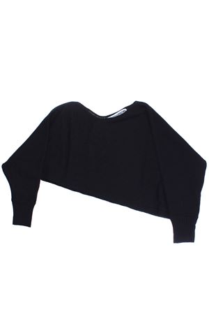 Asymmetrical crew neck