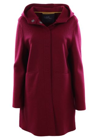 Wool outerwear with hood
