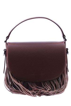 Small leather bag with fringes