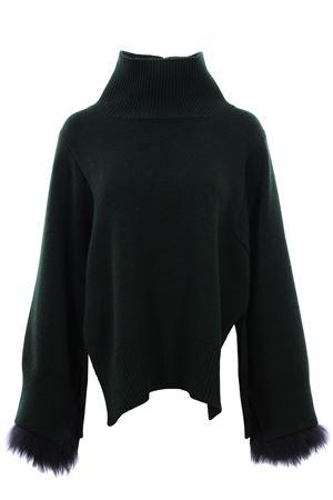 Cappa in maglia con polsi in volpe FABIANA FILIPPI | 5032315 | MAD129W712A295VR2