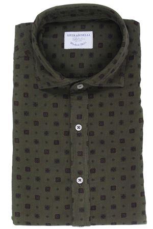 Camicia washed in velluto stampato GHIRARDELLI | 5032279 | TT7203235