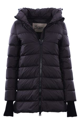 Asymmetrical down jacket with hood