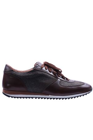 Sneakers in pelle e flanella MODESTO BERTOTTO | 20000049 | 6081MARRONE