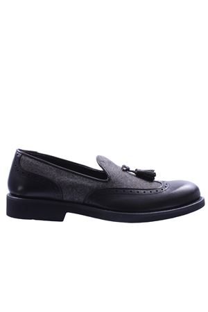 Leather and flannel loafer MODESTO BERTOTTO | 5032270 | D71MORO