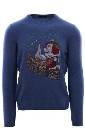 Crew neck with Santa Claus embroidery