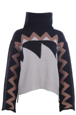 High neck with jacquard pattern NUDE | -161048383 | 110108128