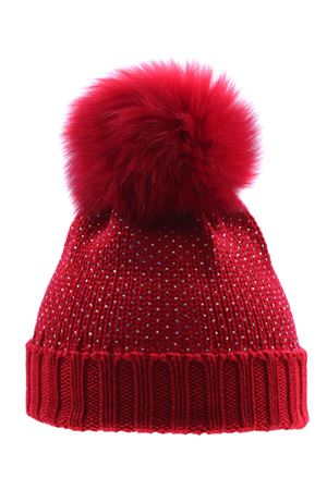 Wool hat with rhinestone