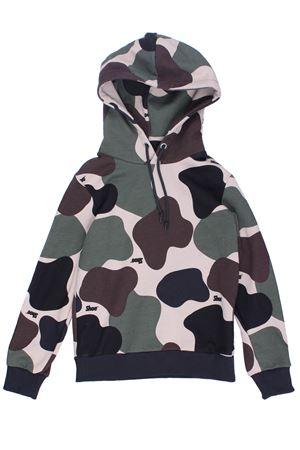 Camouflage sweatshirt with hood SHOE | -161048383 | F9CARLJ02CAMO