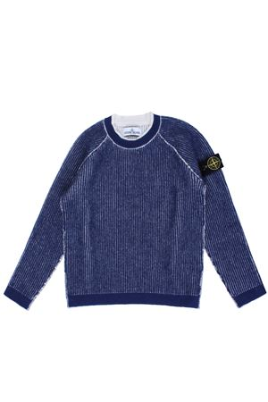 Reversible wool crew neck