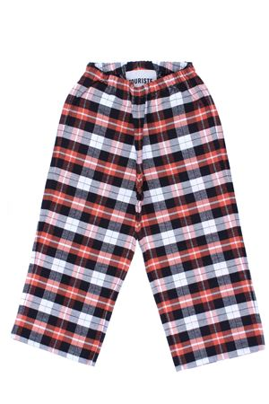 Checked cotton pants