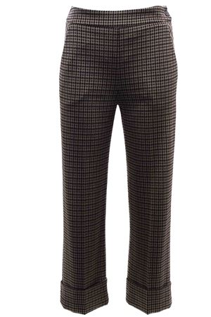 Houndstooth pants with cuffs VIA MASINI 80 | 5032272 | CORSOMAGENTAA19M708MO584