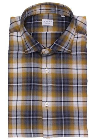 Camicia washed in flanella di cotone check XACUS | 5032279 | 748ML13289002