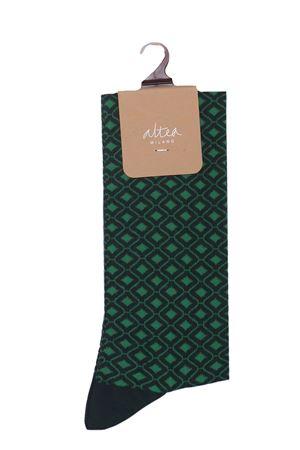 Long socks with geometric pattern ALTEA | 33 | 206802402