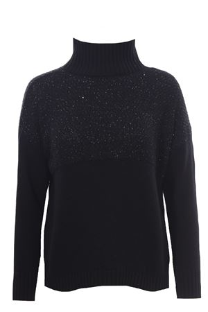 High neck with sequin application