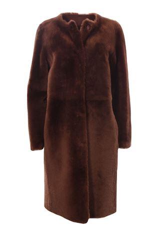 Cappotto in shearling reversibile DESA 1972   5032278   K12453TOBACCO