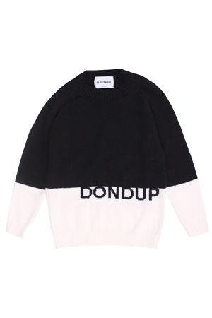 Two-tone crew neck