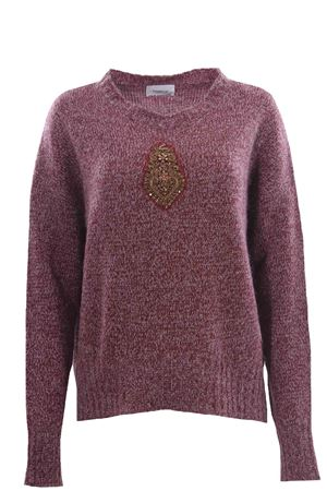 Melange crew neck with embroidery DONDUP | -161048383 | DT066M00753D002585B