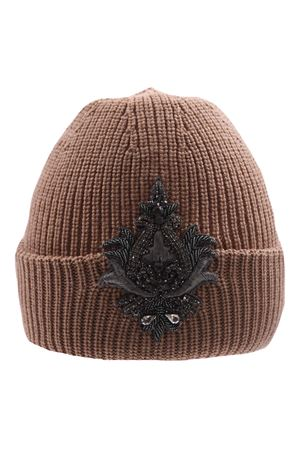 Wool hat with applications