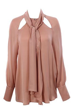 Camicia in seta con sciarpa ELEVENTY | 5032279 | B80SETB02TSE0B00195