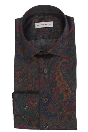 Shirt with paisley print