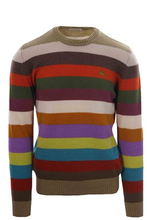 Wool striped crew neck