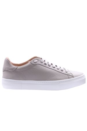 Leather sneakers with jewelry