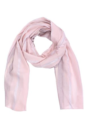 Lurex scarf with stripe