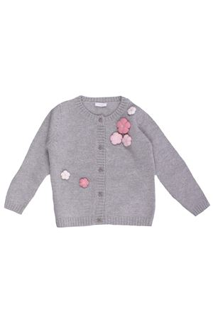 Wool cardigan with flowers