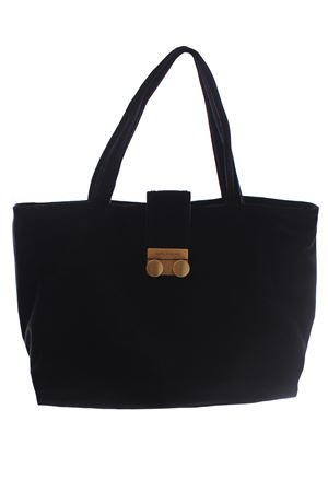 Velvet shopping bag